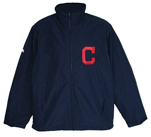 Majestic Cleveland Indians Medium Full Zipper Jacket - Navy
