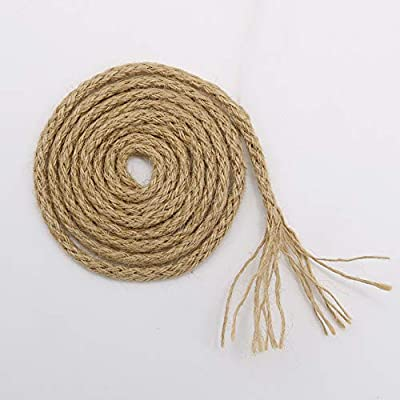 Vivifying 5mm Jute Rope, 65 Feet Braided Jute Macrame Cord for Garden, Gifts, DIY Crafts (Brown) : Office Products