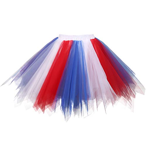 4th Of July Halloween Costumes - Topdress Women's 1950s Vintage Tutu Petticoat