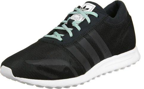 Adidas Mens Los Angeles Sneaker Collo Basso Nero Turchese