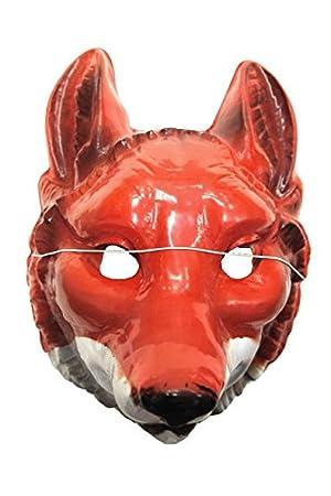 Máscara de zorro grande de pvc