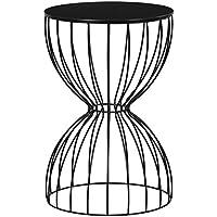 Elle Decor FETCAMBLKC01 Cami Table Side, Black