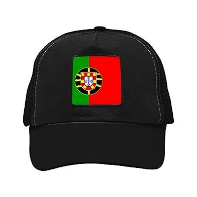 CAHAFun Unisex Adults Portuguese Flag Snap Back Trucker Hat Mesh Cap