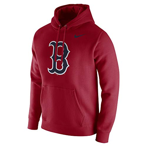 Nike Men's Boston Red Sox MLB Hood Franch Red Size X-Large