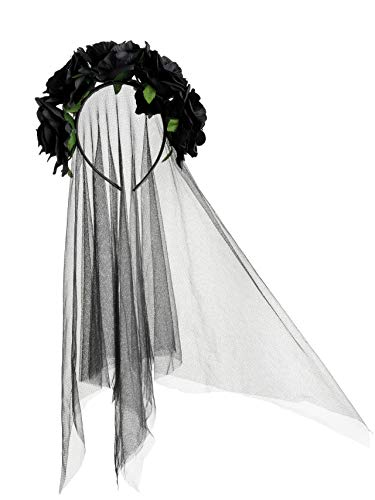 Zivyes Day of The Dead Headband Bride Veil