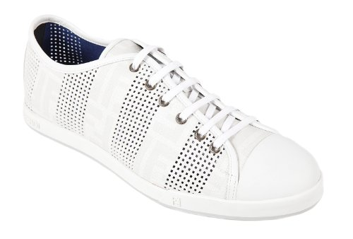 1d60a361 Fendi men's shoes leather trainers sneakers zucca white US size 6 ...