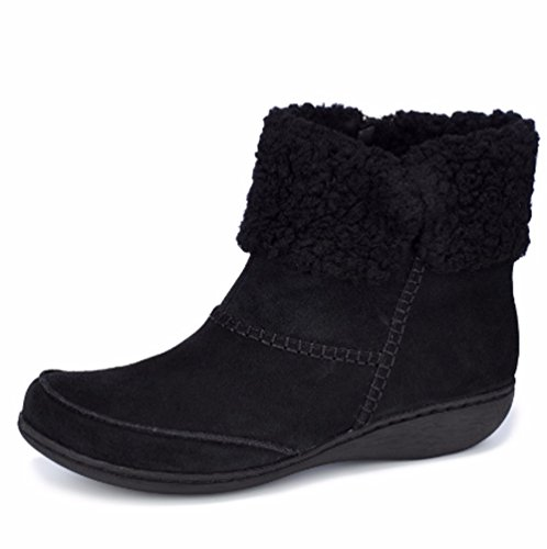 5 38 with Boot Cosy Suede Black EUR Cuff Joy Ankle UK D Fianna Clarks OqAwvBRO
