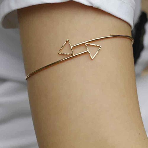 Arm Cuff Jewelry (DZT1968(TM) Women Upper Arm Armlet Chain Bracelet Cuff Jewelry 1 PC 2016 (Gold))