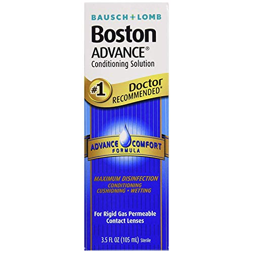 Bausch and Lomb Boston Advance STEP 2 Conditioning Solution for Hard Rigid Gas Permeable Contact Lenses 3.5 oz - Pack of 4 Boston Advance Comfort Formula