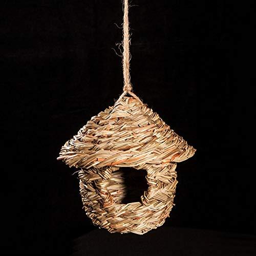 Jiahe Bird Paja Birdhouse Nido de pájaros de la Jaula de Loro ...