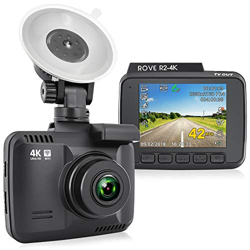 Rove R2-4K Dash Cam Built in WiFi GPS Car Dashboard Camera Recorder with UHD 2160P, 2.4