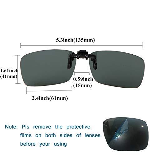 9d7cdc1c97a yodo Upgraded Polarized Flip up Clip on Sunglasses Over Prescription Glasses  for Men Women Driving Fishing