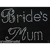 AB Wedding Hen Party Brides Mum Iron-On Wedding Favor Rhinestone Crystal Bead Diamante Tshirt