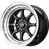 Drag Wheels DR-54 15x8.25/ 4x100/ 4x114.3 Black rims 2.75