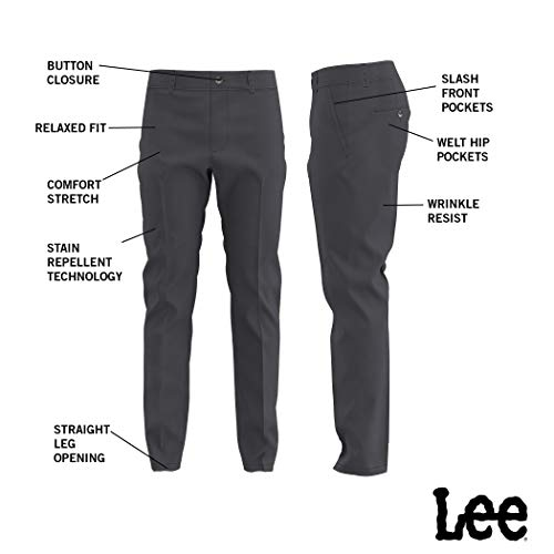 Lee Men's Total Freedom Stretch Straight Fit Flat Front Pant