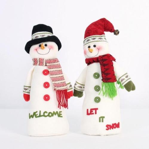 Christmas Snowman Plush Doll Festival Party Desk Ornament Stuffed Toy Xmas Gift