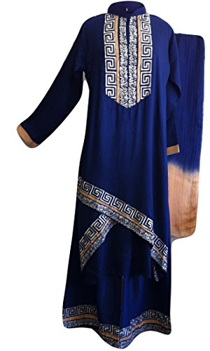 Pakistani Fashions Cotton Shalwar Kameez with Embroidery Large(Bust 44