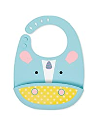 Skip Hop Zoo Fold & Go Silicone Bib, Multi Unicorn BOBEBE Online Baby Store From New York to Miami and Los Angeles