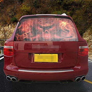 Uniqus Garland Design Car Sticker Decal Waterproof Backup Window Devil Styling 3D Emblem External Side Personalized Car Wall House Decoration, Size  130  70cm