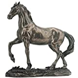 6.13 Inch Walking Horse Decorative Statue Figurine, Bronze Color