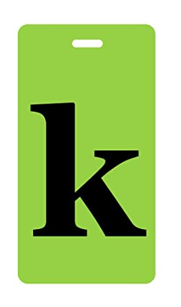 Amazon.com: Inventive Travelware Initial Luggage Tag - K - Lower ...