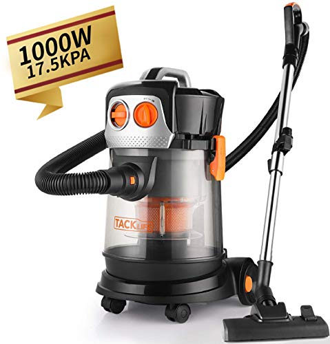 Wet Dry Vacuum, 4 Gallon 3 HP Peak Shop Vacuum with Extension Wand and 4 Wheels for Home Garage Cars, No Hepa