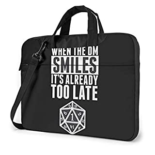 When The Dm Smiles It's Already Too Late Dungeon and Dragons Shockproof Single Shoulder Messenger Laptop Bag