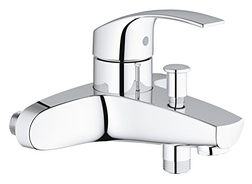 GROHE 23461002 Eurosmart Single-Lever Bath/Shower Mixer Tap, Wall Mounted (Without S-Unions) (Grohe Eurosmart Single Lever Bath Shower Mixer)