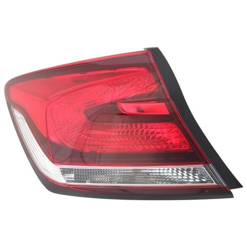 Go-Parts ª OE Replacement for 2013-2015 Honda Civic Rear Tail Light Lamp Assembly/Lens / Cover - Left (Driver) Side Outer - (Sedan) 33550-TR0-A51 HO2804102 Replacement for Honda Civic