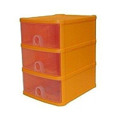 Plastic A5 Handy Drawer Garage Salon Make up Jewellery Storage Box Orange//Sunflower Color File Sorters /& Storage Cabinet Cupboard Home Office Kitchen Organiser unit 3 Tier