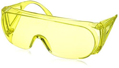 Amber Framed Sunglasses - Howard Leight by Honeywell HL100 Series Anti-Glare Shooting Glasses, Amber Frame & Lens (R-01702)