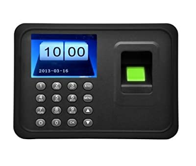 "2.4"" TFT USB Biometric Time Recorder Fingerprint Clock Attendance Machine Office"