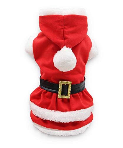 DroolingDog Dog Christmas Costume Dresses for Small Dogs Girl