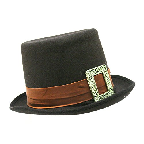 Felt Big Buckle Pilgrim Top Hat]()