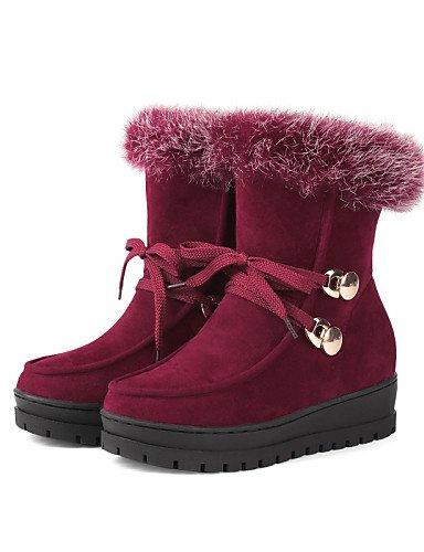 laine Bout Arrondi Chaussures Confort Cn40 Plateforme 5 Red Habillé De Décontracté us8 5 Noir Bottes Rouge Uk6 Neige Xzz Eu39 Femme OCxwqPO7