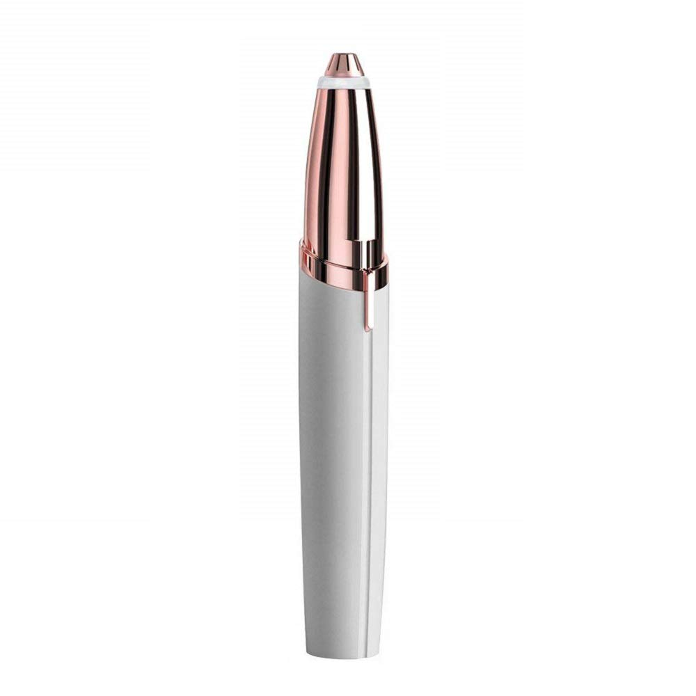 Flawless Eyebrow Trimmers Brow Hair Remover for Eyebrow Hair, Face, Lip Painless Portable ROMANTIC BEAR (White)