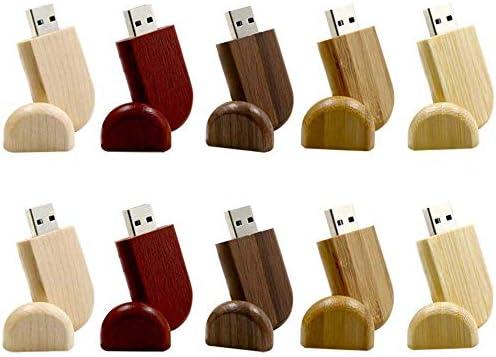 A Plus+ Pendrive Madera 10 Piezas Memorias USB 8GB Madera Pen ...