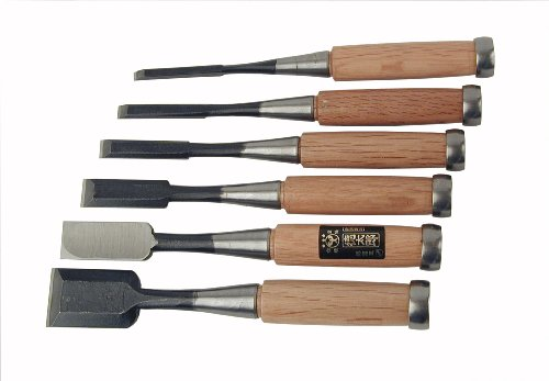 6 Pc Japanese Chisel Set 1201-606