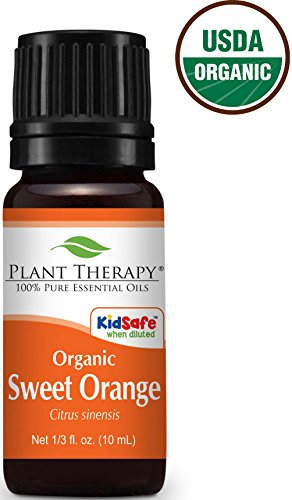 Organic Sweet Orange Essential Oil. 10 ml. 100% Pure, Undiluted, Therapeutic Grade.