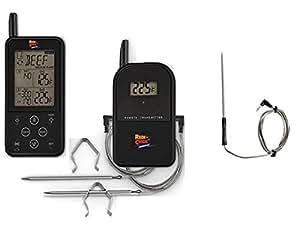 Maverick BBQ Set, Set de Termómetro Digital Wireless ET-733 + Sonda Híbrida Resistente Al Agua Con Mango De Plástico De Recambio