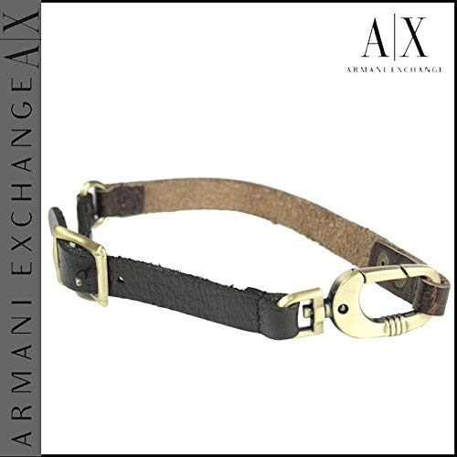 Armani Exchange AIX Leather Studded Double Wrap Bracelet R6BR971 Brown B016YJOM68_US