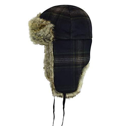 Kangol Men's Wool Ushanka Trapper Hat, Check, L ()