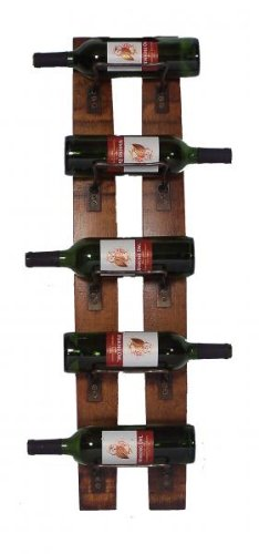 2 Day Designs Reclaimed 5-Bottle Wall Mounted Wine Rack by 2-Day Designs