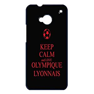 Cover Shell Simple Quotes Design Olympique Lyonnais Football Club Phone Case Cover for Htc One M7 FC OL Lyon Logo Cool