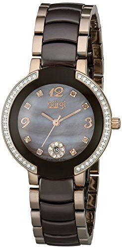 Burgi Women's BUR072RGBR Analog Display Japanese Quartz Two Tone Watch ()