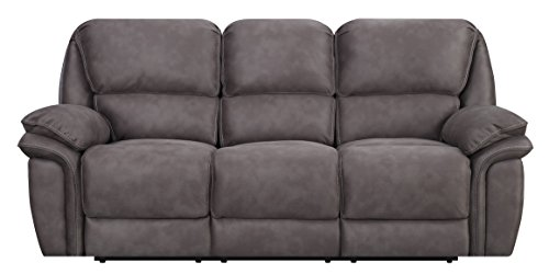 MStar Jackson 3 Seat Dual Power Reclining Sofa USB Charging Ports Memory Foam Seat Toppers