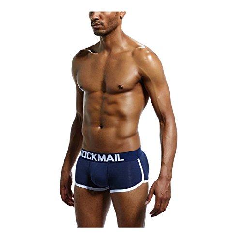 2 Nalgas Ropa Enhancer Boxers Deepblue Hombres Interior Acolchadas Hip Paquetes rqnwF4USr