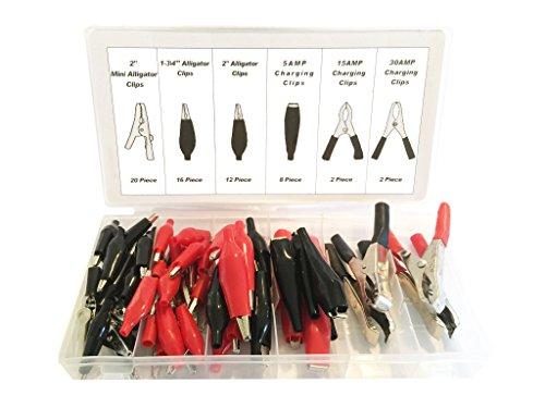 Common Electrical Clips Metal Clips Mini Alligator Clip Set (60 Piece Set) by EZ Travel Collection