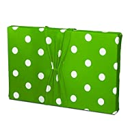 Birthday Wrapping - Stretchy Fabric, Reusable and Eco Friendly - Green and White Polka Dots (Medium)