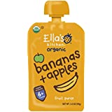 Ella's Kitchen Organic 6+ Months Baby Food, Bananas and Apples, 3.5 oz. Pouch (Pack of 6)